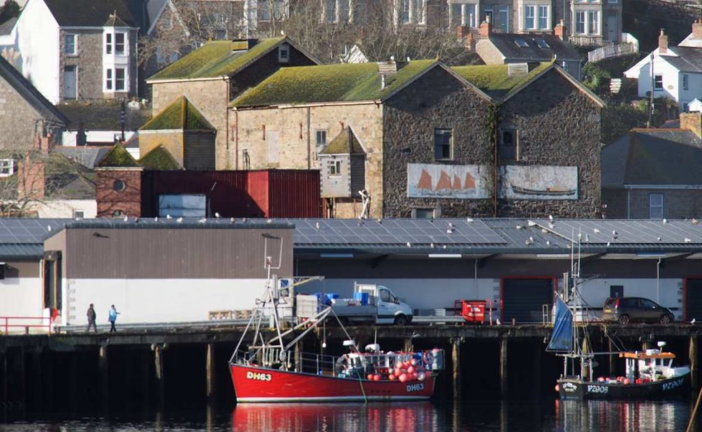 View from east of former ice works, Newlyn (photo by David Need)
