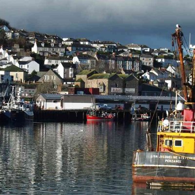 Image of Newlyn's former ice works viewed from North Pier (photo by David Need)