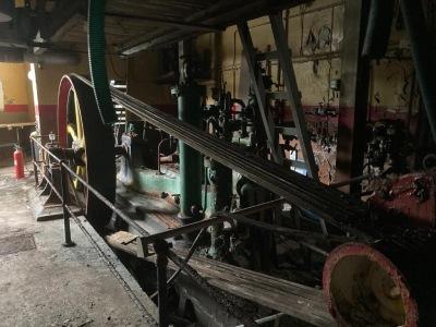 Ice making machinery inside Newlyn Former Ice works (photo by Mike Sagar-Fenton)