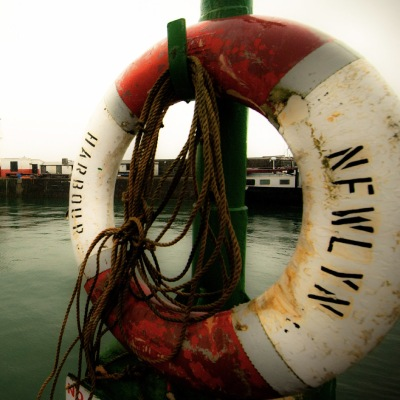 Newlyn Harbour lifering (Photo by Laurence Hartwell)