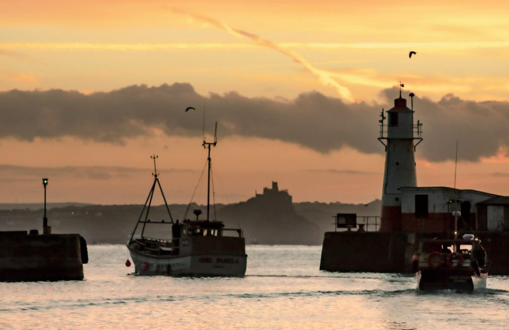 Fishing boat in The Gaps at Newlyn Harbour (Photo by Laurence Hartwell)