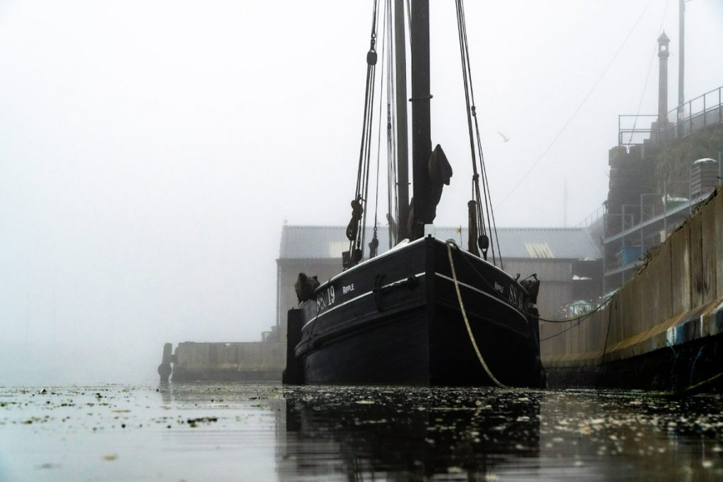 Cornish lugger 'Ripple' (photo by Laurence Hartwell)